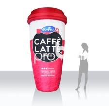 Becher aufblasbar - Caffé Latte Becher