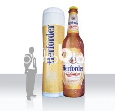Aufblasbare Produktnachbildung Bier Herforder Flasche und Glas