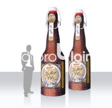 Aufblasbare Bierflasche mit Bügelverschluss - Kellerpils