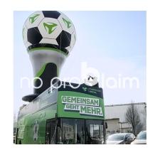 Aufblasbare Nachbildung Fußball-Pokal - Mobilcom