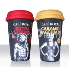 aufblasbare Produdtnachbildung - Riesenbecher - Cafe Royal