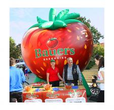 Aufblasbare Produktnachbildung - Erdbeere Bauers