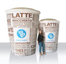 Aufblasbare Produktnachbildung - große Kaffeebecher to go