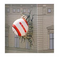 Aufblasbare Fassadenwerbung - Nike Ball