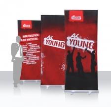 Werbung mit Roll Ups - AK young