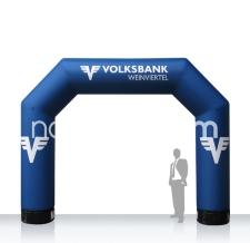 Start- & Zielbogen aufblasbar Bogen MAX Volksbank