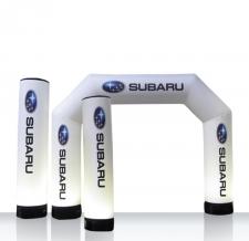 aufblasbarer Durchgangsbogen basieren auf MAX Sockelsystem - Bogen MAX Subaru