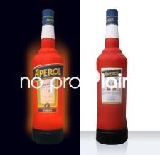 Beleuchtete aufblasbare Flasche - Flaschen MAX Aperol