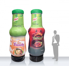 Aufblasbare Flaschen - Flaschen MAX Knorr BBQ