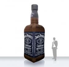 Produktnachbildung aufblasbare Flasche - Super Flaschen MAX Jack Daniels
