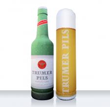 Werbeflasche und Werbeglas aufblasbar - Flaschen MAX Trumer