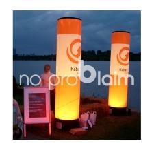 Aufblasbare Leuchtsäulen - MAX Säulen Kabel1