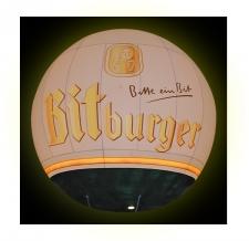 Heliumballon bedruckt - Bitburger