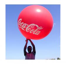 Heliumgefüllter Ballon - Coca Cola