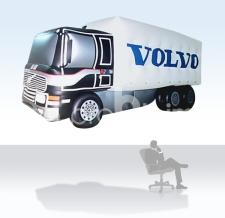 Aufblasbare fliegende Sonderform - Volvo Truck