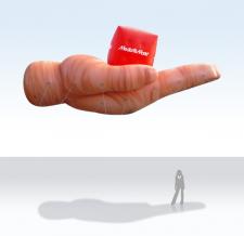 Fliegendes Objekt - Riesenhand - Media Markt