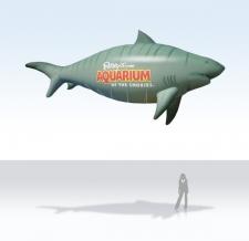 fliegende Werbeobjekte - Sonderform shark
