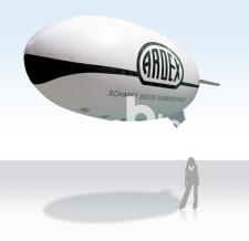 Fliegender Werbezeppelin - Ardex