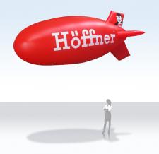 Zeppelin mit Werbung - Höffner