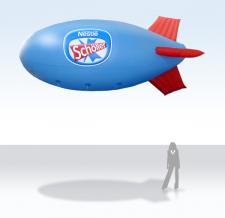 Aufblasbares Luftschiff - Nestle Schöller Eis