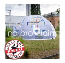 Promotionzelt, Verkaufsstand, Event Dome - Zelt aufblasbar luftdicht, ohne Gebläse - Pneu Zelt SPIDER