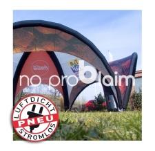 Igluzelt, Werbepavillon, Promotionzelt - stromlos - Pneu Zelt SPIDER Coca Cola
