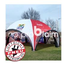 Eventzelt, Eventshelter, Werbepavillon -  ohne Strom - Pneu Zelt SPIDER Coca Cola