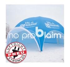 Pavillon aufblasbar - Marktzelt - Verkaufszelt - Werbezelt luftdicht - Pneu Zelt SPIDER val de marne
