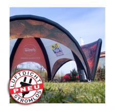 aufblasbare Zelt luftdicht - Pneu Zelt SPIDER Coca Cola