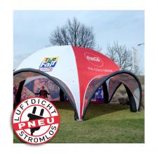Eventzelt ohne Strom - Pneu Zelt SPIDER Coca Cola