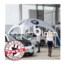 Luftdichtes Promotionzelt, Eventzelt, Messezelt - Pneu Zelt SQUARE BMW