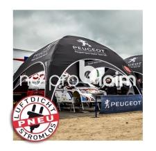Pavillon aufblasbar / Werbepavillon - Pneu Zelt SQUARE Peugeot