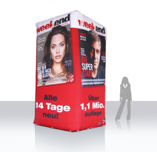 Werbeturm aufblasbar - Weekend Magazin - 400 cm