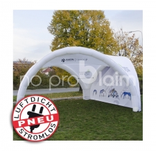 Eventshelter / Pavillon / Event Dome - Pneu Zelt TRIPOD Axion mit Rückwand