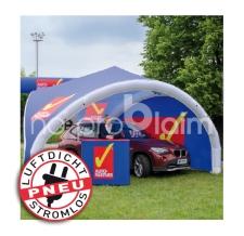 Werbezelt / Messezelt / Pavillon - aufblasbar ohne Gebläse - Pneu Zelt TRIPOD Auto Partner