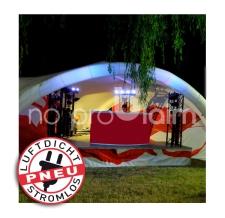 Bühnenzelt, Partyzelt, Veranstaltungszelt aufblasbar aber luftdicht - Pneu Zelt TRIPOD