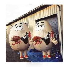 aufblasbare Maskottchen Kostüme - Walker Mr. Egg