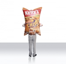 Walking Act Kostüm Rückseite - Walker Kelly's Chips