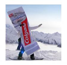 Kostüm aufblasbar - Colgate Snowboarder
