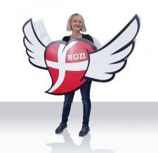 Aufblasbares Kostüm - HG2 Herz mit Flügel
