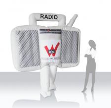 Aufblasbarer Walker - Radio Wuppertal