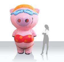 Kostüm aufblasbar - Tromvolino Bikinischweinchen