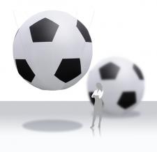 Miete Werbeträger Fußball - 500 cm