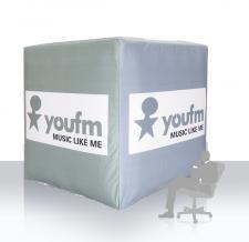 Aufblasbare Werbewürfel - youfm Music