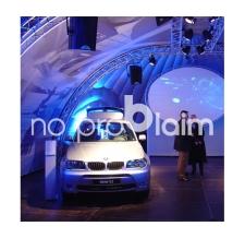aufblasbares Messezelt BMW XDome - Innenansicht