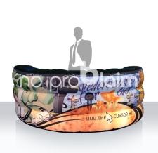 Aufblasbarer Promotionstand - Info Bar Halbkreis Cursor