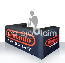 Verkaufspult und Infostand - aufblasbare Info Bar eckig Nintendo