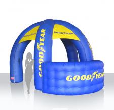 Aufblasbarer Messestand - Infostand Goodyear