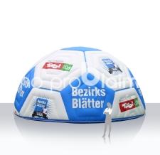 Messezelt aufblasbar Sonderform Fussball Bezirksblätter