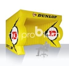 Aufblasbares Eventzelt / Messezelt - Sonderform Dunlop
